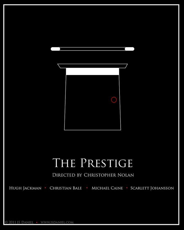 The Prestige (2006) ~ Minimal Movie Poster by JS Daniel #amusementphile