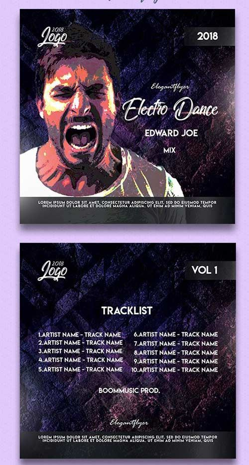 Electro Dance V1 2018 Premium CD Cover PSD Template Free Download http://ift.tt/2G6YZ3x