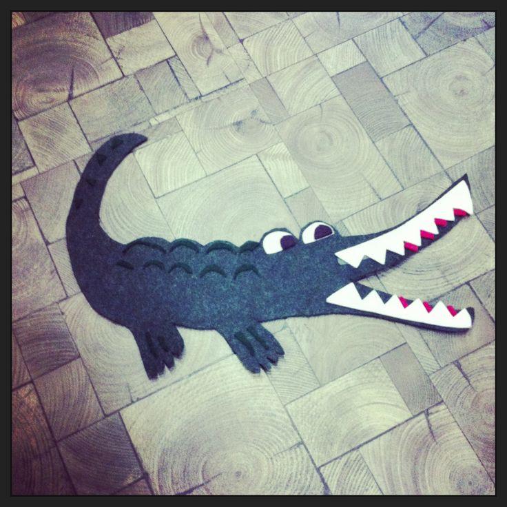 Crocodile, felt, craft, animal