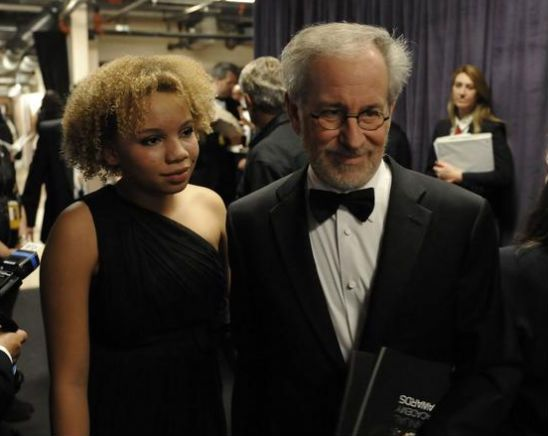 Steven Spielberg and daughter Mikaela