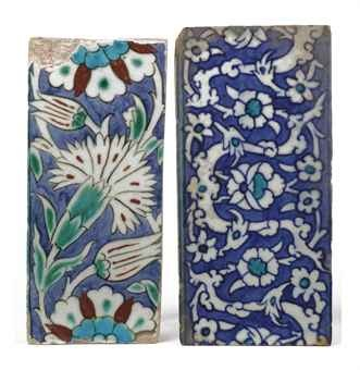 Two Turkish Iznik tiles