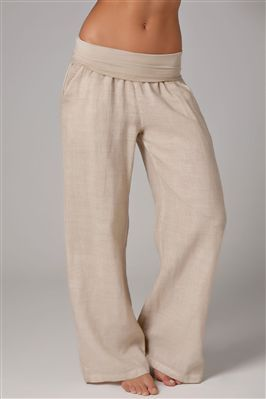 yoga sweats - perfect for lounging and you won't have to pull them up all the time like sweatpants! NEED