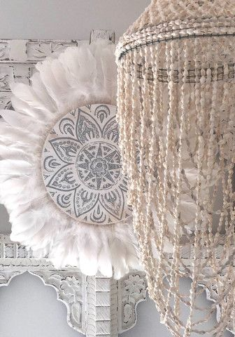 ☆ White Bohemian Decor // Follow us on Instagram: @thebohemianguide #boho #bohemian #lifestyle