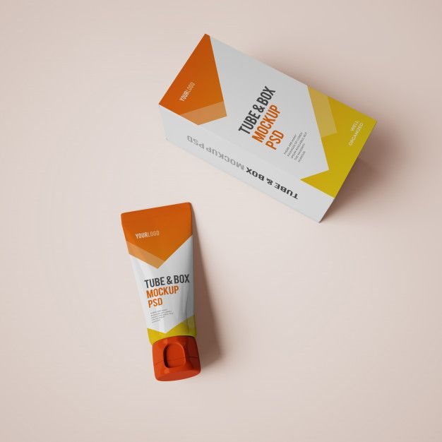 Download Cream Tube And Box Mockup With Editable Design Box Mockup Cosmetics Mockup Mockup