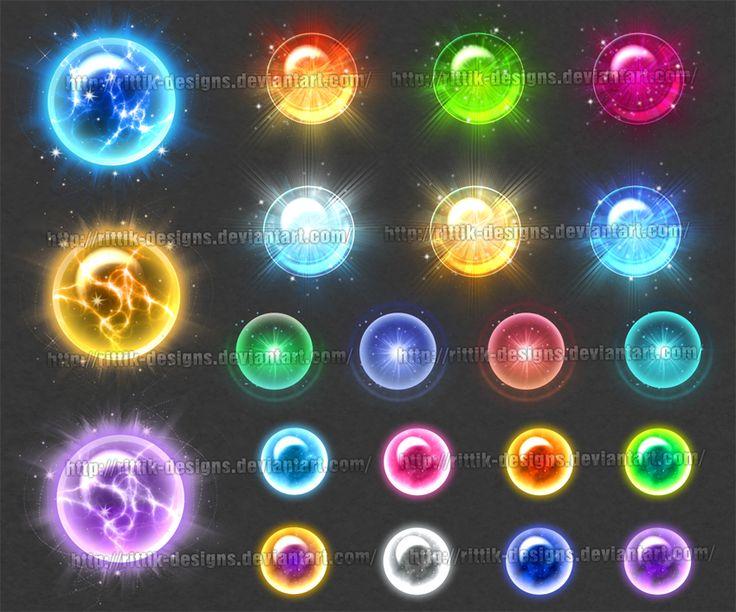 Magic Orbs 2 (downloadable stock) by Rittik-Designs