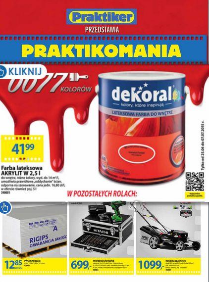 Nowa gazetka Praktikera kusi promocjami :) http://www.promocyjni.pl/gazetki/24572-praktikomania-gazetka-promocyjna-n130-p-c1-k1-k39#page=1