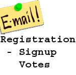 Buy bulk Email Registration votes to any website contest you participate