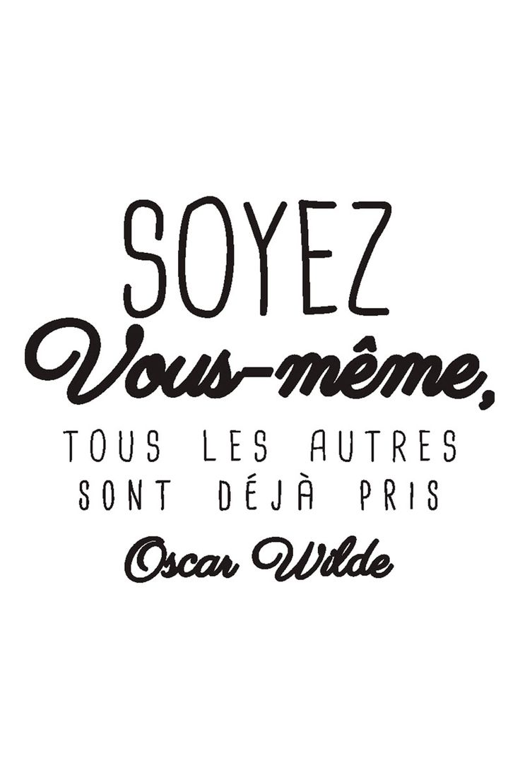Elegant Vente STICKERS / 24345 / Lettrage / Citations En Français / Sticker  Citation Oscar Wilde Noir Design Inspirations
