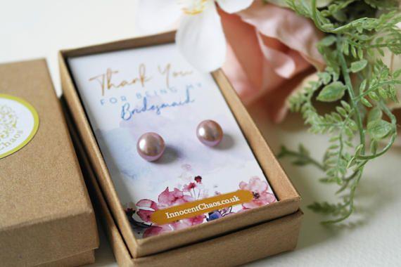 Nude earring Pearl stud pearl earrings freshwater pearl