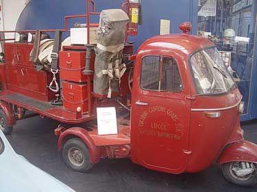 Vespa Ape Fire Engine at the Piaggio Museum.