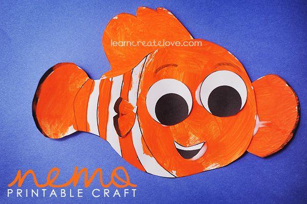 Preschool Summer Craft Projects | Finding Nemo Printable Craft }