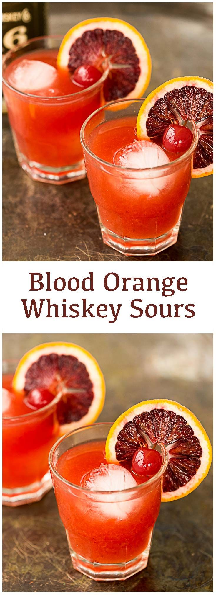 Blood Orange Whiskey Sours!