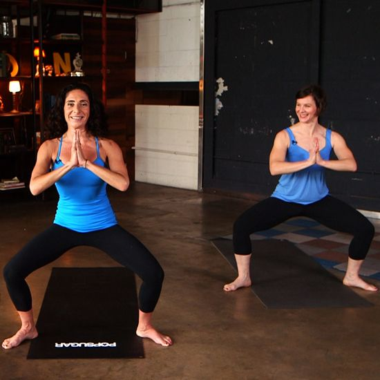 Take a tip from Jennifer Aniston's trainer Mandy Ingber and mix yoga poses with classic strength-training moves to maximize your burn. This 10-minute workout works every major muscle group and then some! You will even learn a few of Jen's favorite moves.