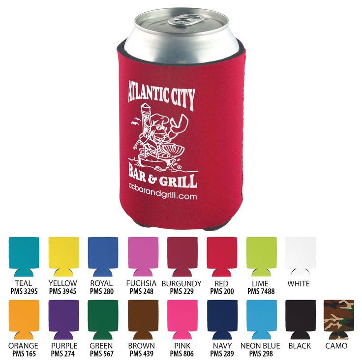 Beverage Insulator Cooler Pocket Can Coolie - 3 Side Imprint Included!