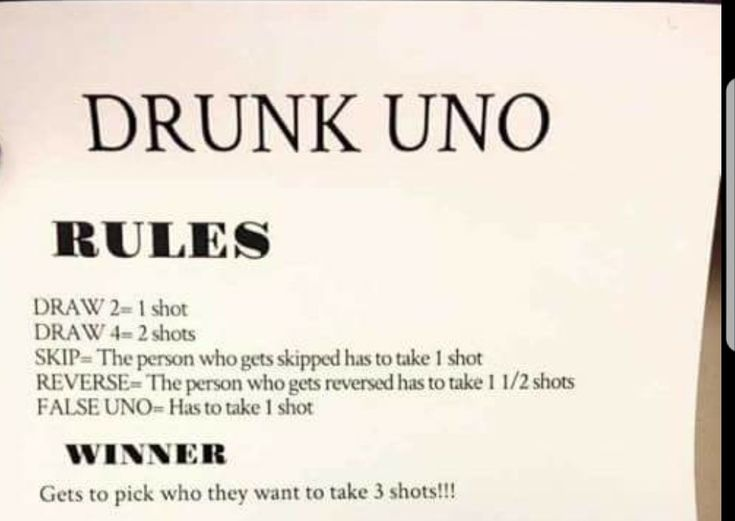 Drinking Games For  People Without Cards