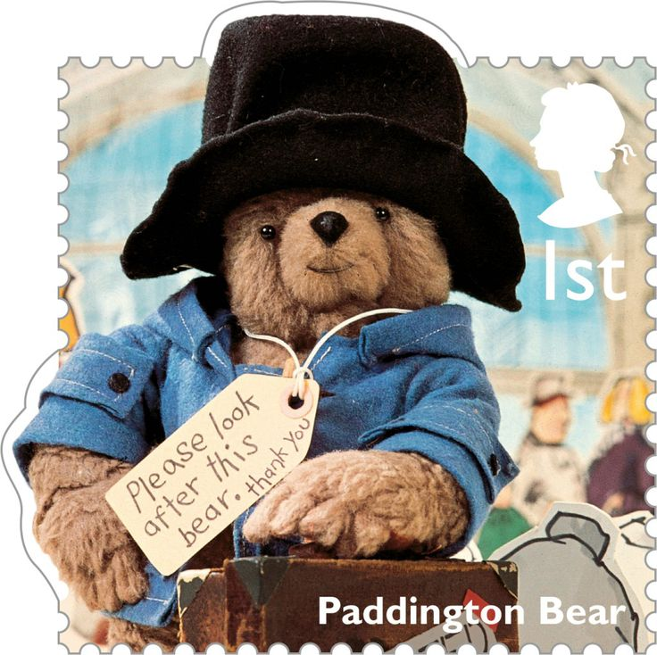 Royal Mail 1st Class Postage Stamp from 2014 featuring Classic Children's TV shows - Paddington Bear