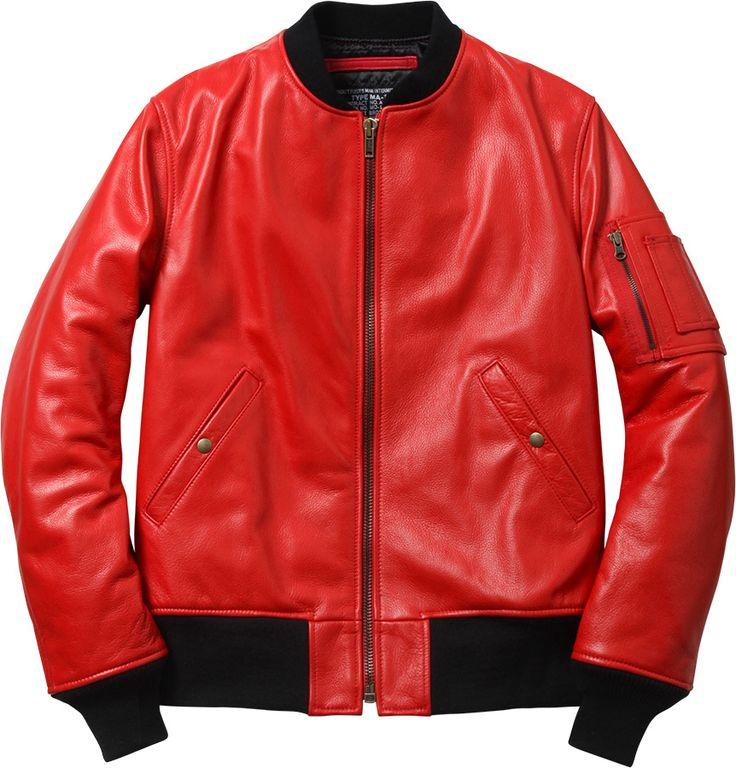 Supreme/Schott Leather MA-1