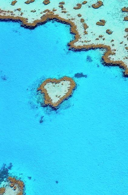 The Heart Reef, Australia. >> I love... ;)