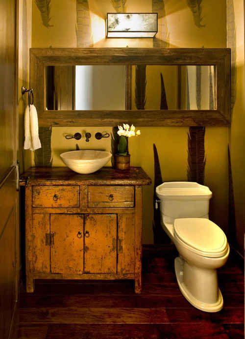 decoracion de baños pequeños rusticos (4)                                                                                                                                                                                 Más