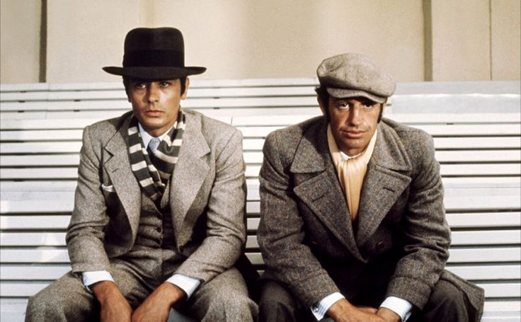 "Alain Delon et Jean-Paul Belmondo ensemble pour le film ""Borsalino"" © Photo sous Copyright"