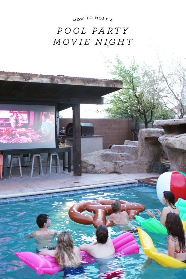 How to Host a Pool Party Movie Night | Oh Happy Day! (we don't want a house with a pool buuuuuuut this makes me totally want a house with a pool)