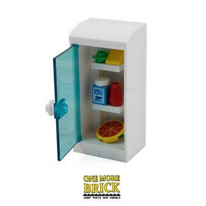 LEGO-Fridge-Kitchen-fridge-with-food-items-pizza-milk-etc-All-NEW-pieces