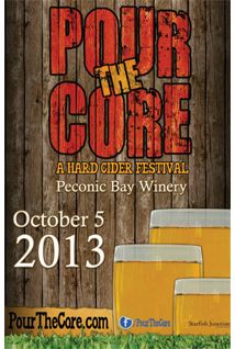 Pour the Core Cider Festival this Saturday October 5, 2013! Get your tickets before they sell out!