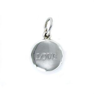 Colgante Love de plata redondo de 13 mm LOVE