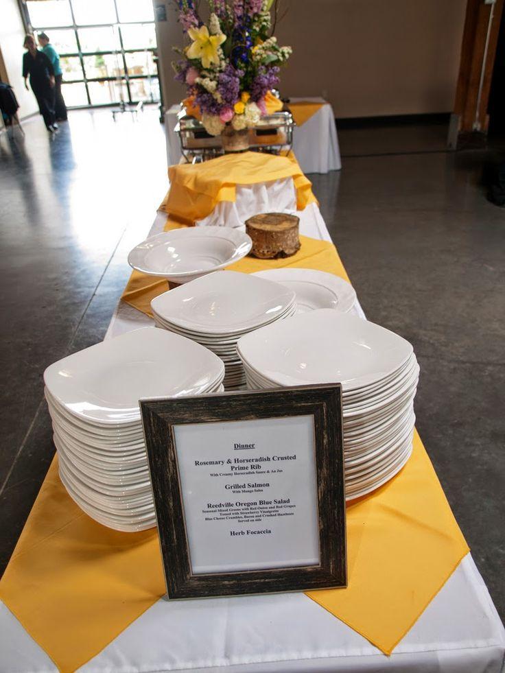 Buffet table set up! #ReedvilleCatering