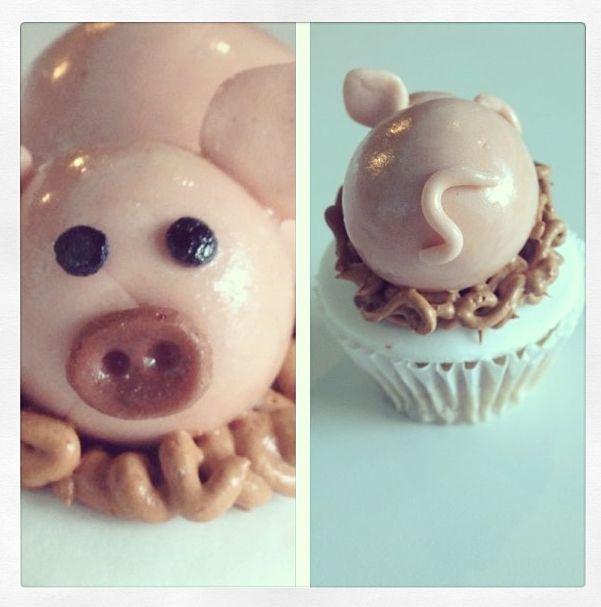 #Cupcake de cerdito ♥