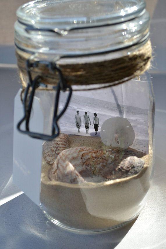 Beach Trip Memory Jar - Vintage Canning Jar