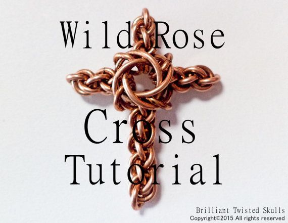 Tutorial for Wild Rose Cross Chain Maille Pendant
