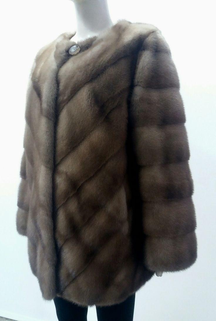 Pastel real mink fur jacket