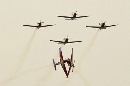 Irwin Day @ayofoto : A astounding performance from Jupiter Aerobatic Team - Indonesia Air Force TNI AU on TNI AU Day - 2011
