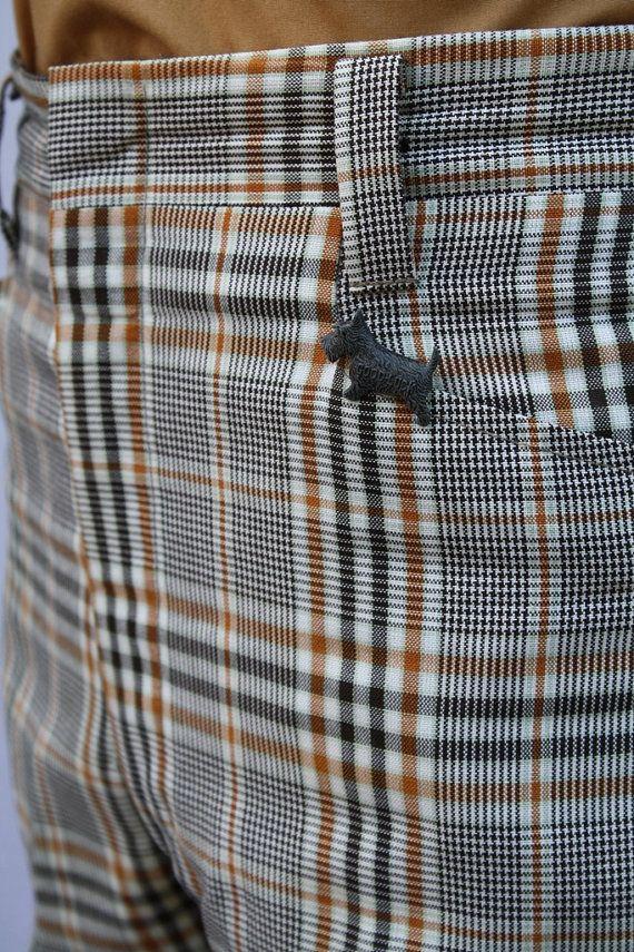 Mens Vintage Plaid Pants 76