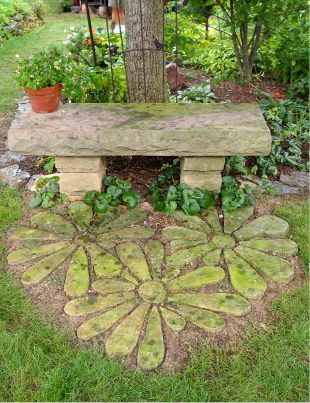 Great Idea To Make A Garden Bench With Stones. I Have To Make It For