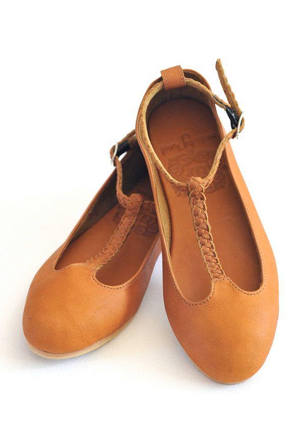 GRACE. Leather ballet flats. Womens flat shoes. US 5-14 sizes.