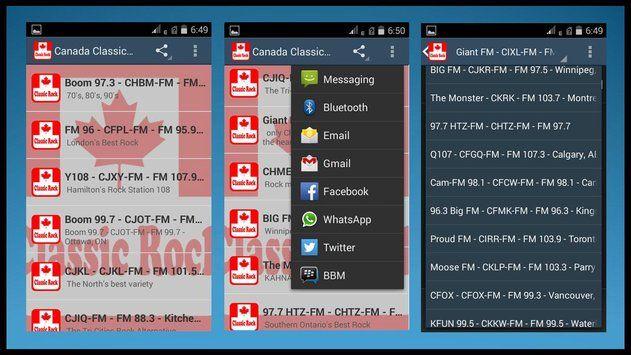 Canada Classic Rock Radios Apk Screenshot