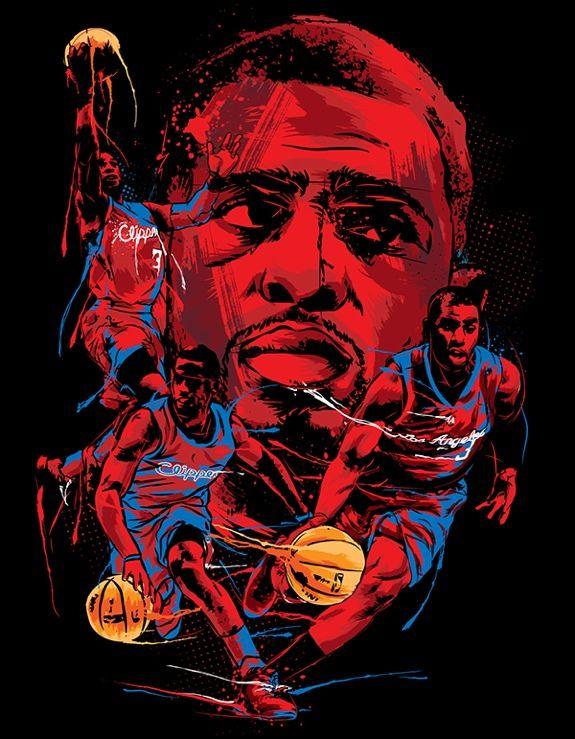 Chris Paul NBA Italy Illustration