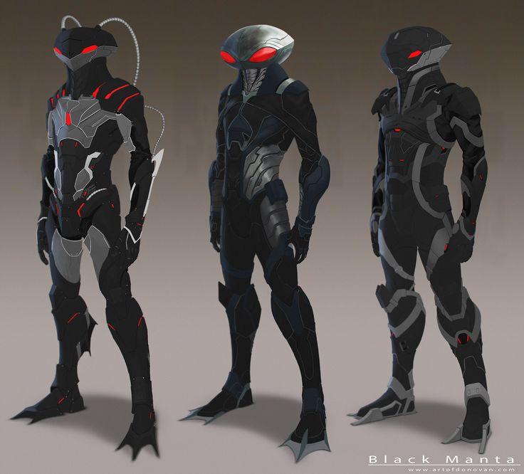 Black Manta redesign concepts by Donovan Liu