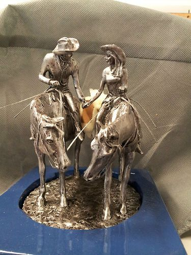 montana silversmiths just hitched western wedding cake topper montana silversmiths two trails become one road cake 17529