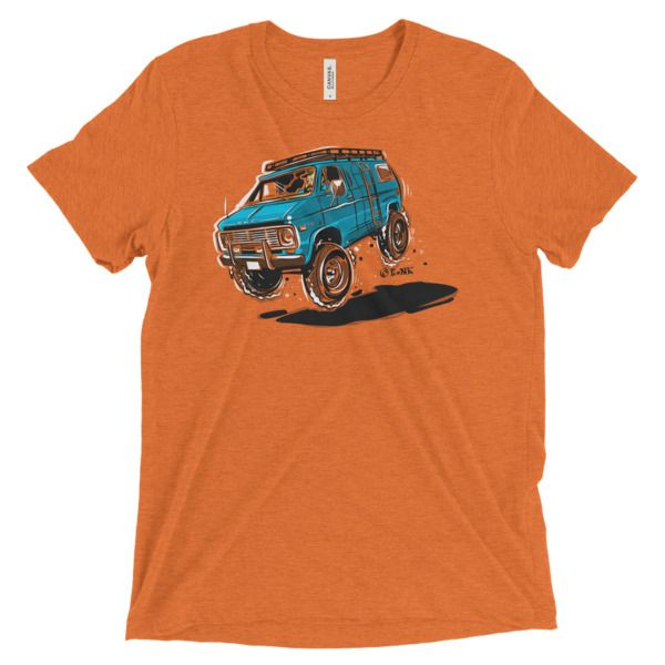 Do you even van? Vanning T-Shirt (orange).  Show your love for vans to the world. Art © Timothy Pronk