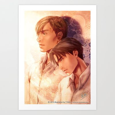 SNK Levia and Erwin Art Print by T.Wolv - $17.99