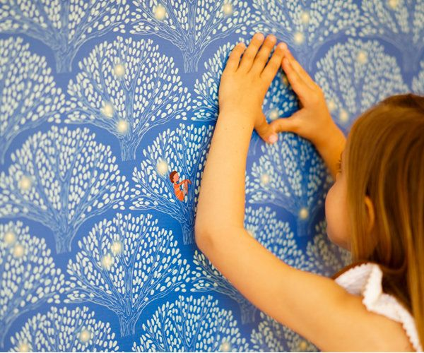Whimsical Children's Wallpapers - cute and fun paper doesn't need to be covered in cartoon characters!