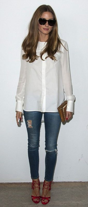 Olivia Palermo in our AG Jeans The Ankle Legging Jean