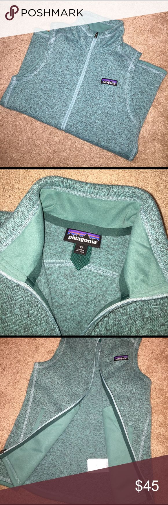 Patagonia Better Sweater Vest This vest is in PERFECT condition! I've only worn it a few times and just recently threw away the tag. It's an XS but will for sure fit a S! I'm a S and it fits perfectly! If you have any questions please ask! 😃 Patagonia Jackets & Coats Vests