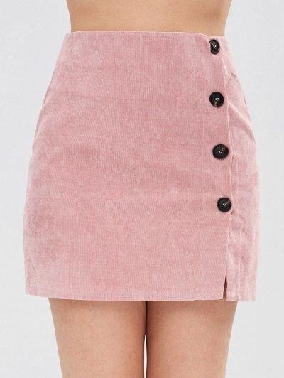 6c45684fed Corduroy Buttoned Mini Skirt in 2019 | Skirts ( Long & Short ...