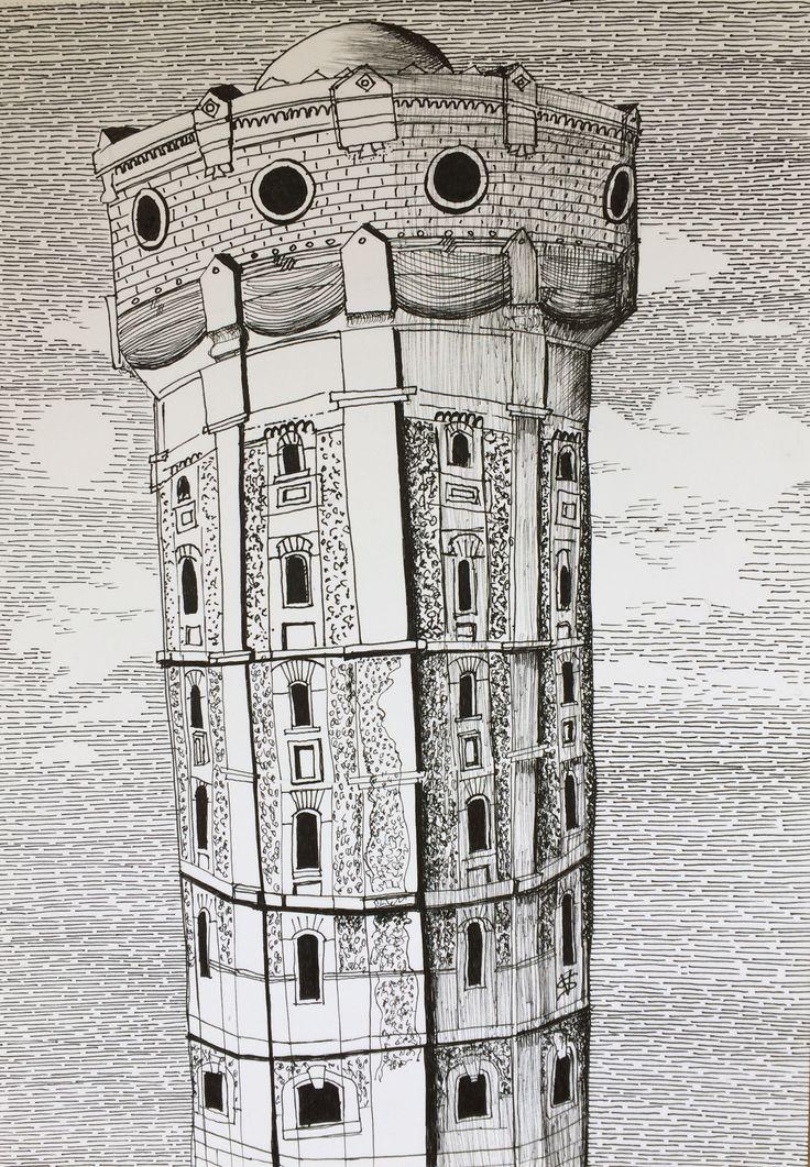 Water tower (ink on paper) #art #artstagram #drawingoftheday #artworks #sketchoftheday #modernart #fineart #sketchbook #instaart #artwork #artdaily #draw #originalartwork #drawing #worldofartists #artistsoninstagram #artoftheday #рисунокручкой #mysketchbook #finelinersketch #inktober #inkdrawing #inktober2017 #blackandwhitedrawing #illustration #inkpen #penart #рисунок #графика #pendrawing