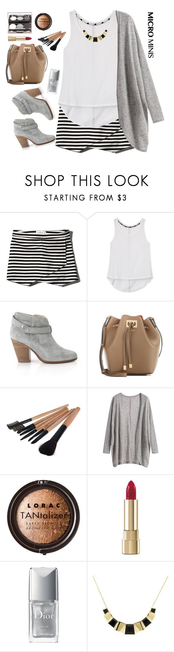 """""""New Trend:Micro Minis"""" by grozdana-v ❤ liked on Polyvore featuring Abercrombie & Fitch, Rebecca Minkoff, Nude by Nature, rag & bone, Michael Kors, LORAC, Dolce&Gabbana, Christian Dior, Monet and microminis"""