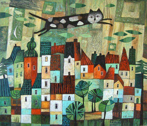 sobre la urbe, ilustración de Beata Wilczewska